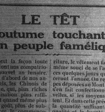 LE TẾT – Coutume touchante d'un peuple famélique